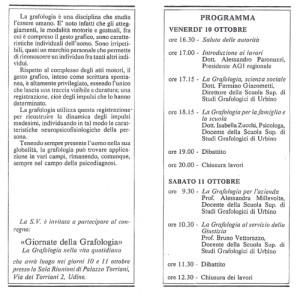 giornate della garfologiagrafologia I 1986 - 2