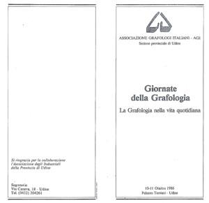 giornate grafologia I 1986 - 1