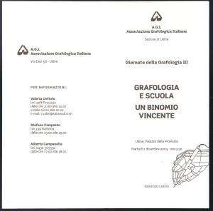 opuscolo giornate grafologia III - esterno